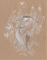 Ghost Heron by Hbruton