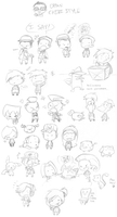 Chibi Sketchdump! ^^ by SecretagentG
