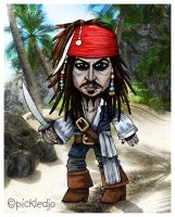 Captain Jack Sparrow by pickledjo