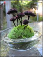Little Mushrooms Pincushion by immortaldesigns