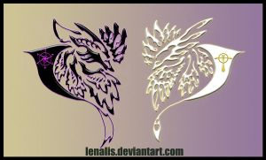 Avian Heraldry by Lenalis
