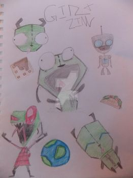 Gir and Zim by ALoveForOrcas