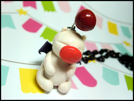 Moogle Necklace by GrandmaThunderpants