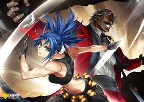 Leona and Rugal by GunshipRevolution