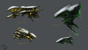 Alien Spaceship Designs by PeterPrime