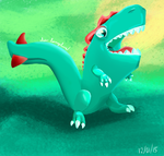 Little Monster Doodle - Culebrasaurus by AlexLongclaw