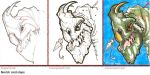 Sketch card process by Pencilbags