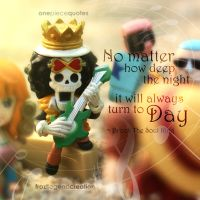 One Piece Quote - Brook - The Deep of The Night by froztlegend