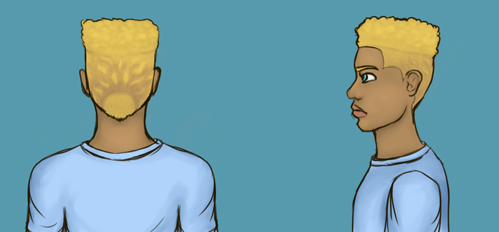 Will Solace with dumb hair (again) by WeirdSpaceKid