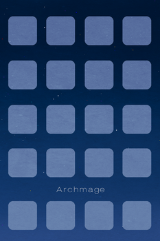 Archmage Official iOS Background - Blue Boxes by archmagemusic