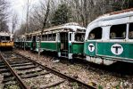 Trolley Graveyard - Green T by cjheery