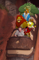 Johnny and Friends on Splash Mountain by BennytheBeast