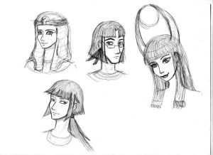 Egyptian Gods Sketches