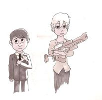 Hero's Cuties: Paperman by TotalWeirdo666