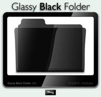 Glassy Black Folder Icon by Thvg