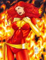 Dark Phoenix - Hot Fire by daikkenaurora