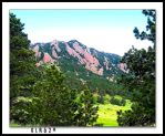Boulder Flatiron Mountains by KLR620