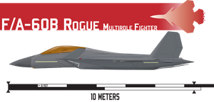 F/A-60B Rogue Multirole Fighter by Afterskies