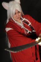 Inuyasha close-up by LaMisere