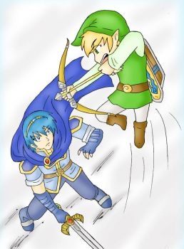 Marth vs Toon Link by SparxPunx