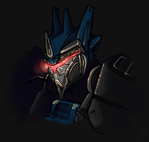 Soundwave Bust by krowsy-art