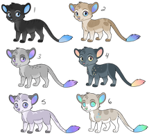 Lion Adopts - SET PRICE - 3/6 - PRICES REDUCED by Railguns