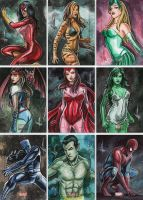 Bronze Age Sketch Cards Promo by AEVU