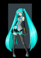 hatsune miku  -  commission by nightwing1975