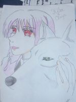 Cheza and Kiba in wolf form by Kagome-tan