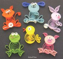 Quilled animals 2 by MichelleCoffey
