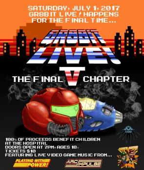GR8Bit Live 5 Poster with Text by ArwingPilot114