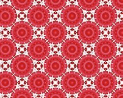 Red-And-White Tile 2 by xtextures-stock