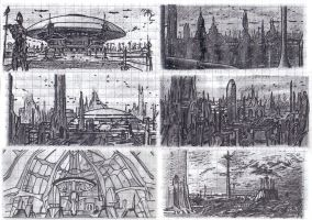 Coruscant Architecture by Master-Cyrus