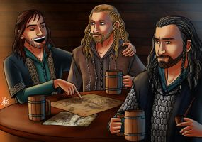 Thorin and his nephews : The world is ahead by lilis-gallery