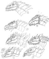 Redesigned Omegaken Head Study by JacobMatthewSpencer