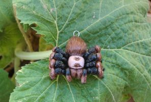 Finished Tarantula Pendant by CaterpillarArts