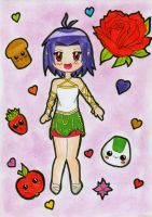 CM: Girl with rose by ZombieChocolate