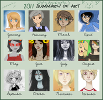 2011 Art Summary by uglyduckbella