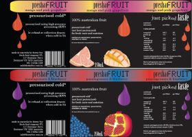 Preshafruit label redesigns by tanmei