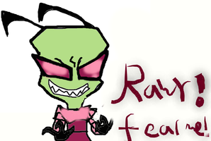 RQ-Scary Zim? by eleanorchipettelover