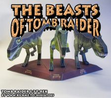 Tomb Raider Beasts papercraft by ninjatoespapercraft