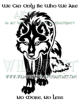 Gaelic Wolf And Sheepskin Design by WildSpiritWolf