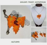 Autumn jewelry set by NessaSilverwolf