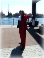 Miles Edgeworth - MCM Expo 2012 by ICannotDrawToSaveMe