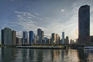 Chicago at Sunset by arnaudperret
