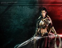 Wonder Woman new look - coloured up - No Helmet by lovingit2