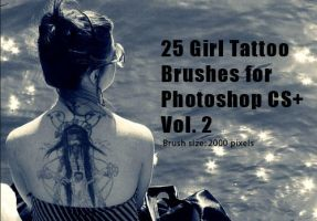 Girl Tattoo Brushes Vol.2 by fiftyfivepixels