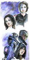 sketch. Shep and other by MaestraRhy