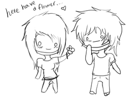 have a flower... by JuicedOrange