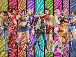 Leo and the Tekken Girls by meteora090